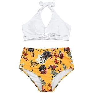 NWT Zaful High Waist Floral Bikini Set